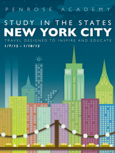 A poster advertising a school trip to NYC in 2012