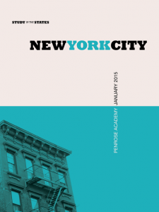 A poster advertising a school trip to NYC in 2015